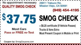 Smog Coupon Mission Viejo